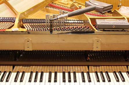 Piano tuning is a complex performance of the piano maker Christof Klingel