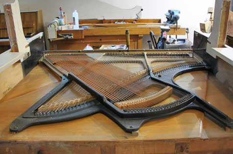 "The restauration center and workshop of the piano maker Christof Klingel is located in the industrial heritage ""Old Tobacco Factory"""